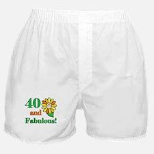 Fabulous 40th Birthday Boxer Shorts