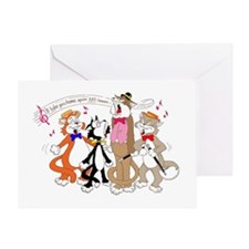 CATS (QUARTET) Greeting Cards