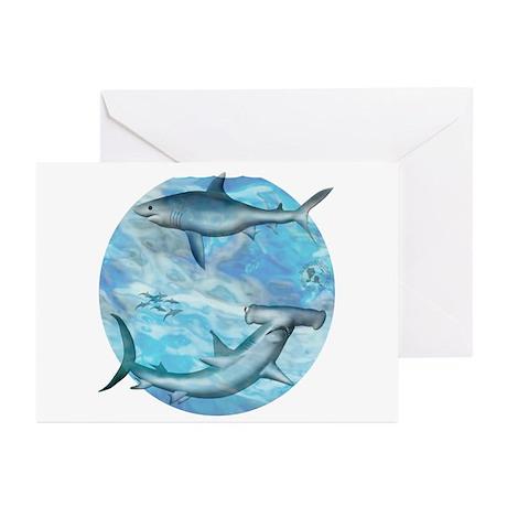 Shark Scene Greeting Cards (Pk of 10)