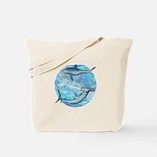 Shark Scene Tote Bag