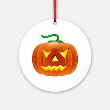 Halloween Pumpkin Ornament (Round)