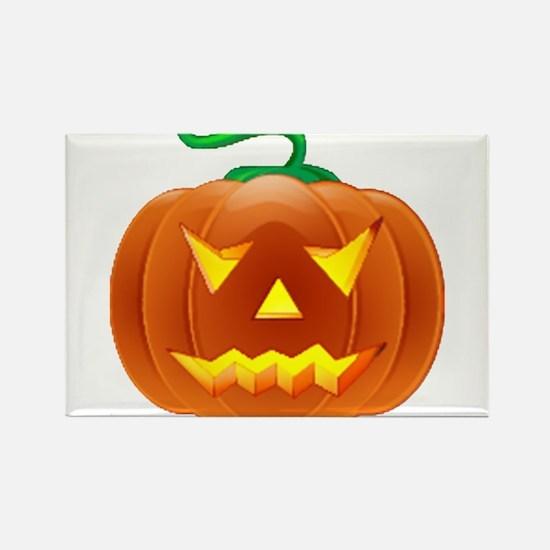 Halloween Pumpkin Rectangle Magnet