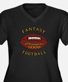 Fantasy Football Champion 2009 Women's Plus Size V