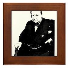 Cute Churchill Framed Tile
