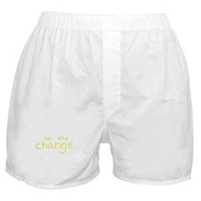 Be The Change (Yellow) Boxer Shorts