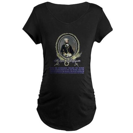 The Marquis de Lafayette on I Maternity Dark T-Shi