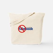 """""""Just Say NO"""" Fakebook Tote Bag"""