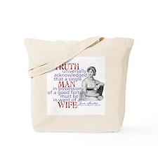 Jane Austen It is a Truth Tote Bag