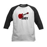 Guitar - Andy Kids Baseball Jersey