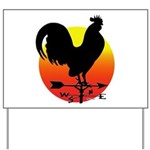 Rooster Weathervane Sunrise Yard Sign