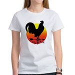 Rooster Weathervane Sunrise Women's T-Shirt