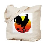 Rooster Weathervane Sunrise Tote Bag