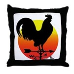 Rooster Weathervane Sunrise Throw Pillow