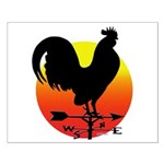 Rooster Weathervane Sunrise Small Poster