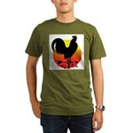 Rooster Weathervane Sunrise Organic Men's T-Shirt