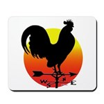 Rooster Weathervane Sunrise Mousepad