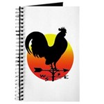 Rooster Weathervane Sunrise Journal