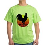 Rooster Weathervane Sunrise Green T-Shirt