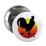 "Rooster Weathervane Sunrise 2.25"" Button (10"