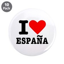 """I love España - Spain 3.5"""" Button (10 pack)"""