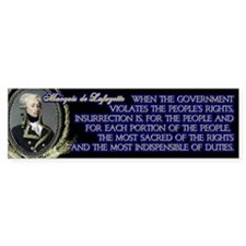 Marquis de Lafayette on Insurrection Bumper Sticker