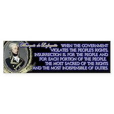 Marquis de Lafayette on Insurrection Bumper Sticker
