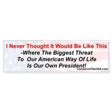 """Our Biggest Threat"" Bumper Bumper Sticker"