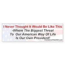 """Our Biggest Threat"" Bumper Sticker (10 pk)"
