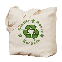 Reduce Reuse Recycle Flowers Tote Bag