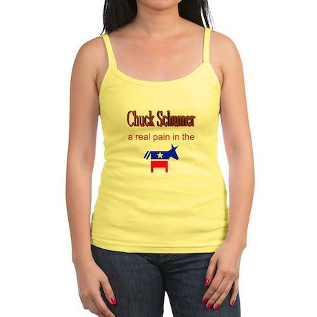 Chuck Schumer - a real pain Jr. Spaghetti Tank