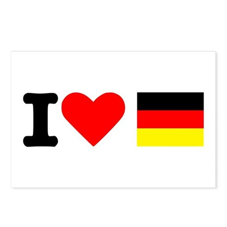 I love Germany Postcards (Package of 8)