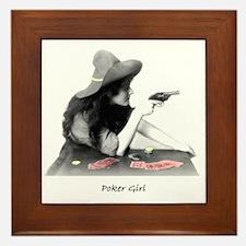poker girl Framed Tile