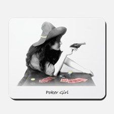 poker girl Mousepad