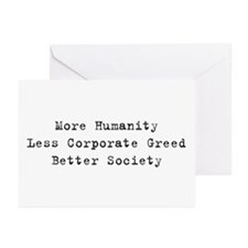 Corporate Greed Greeting Cards (Pk of 10)