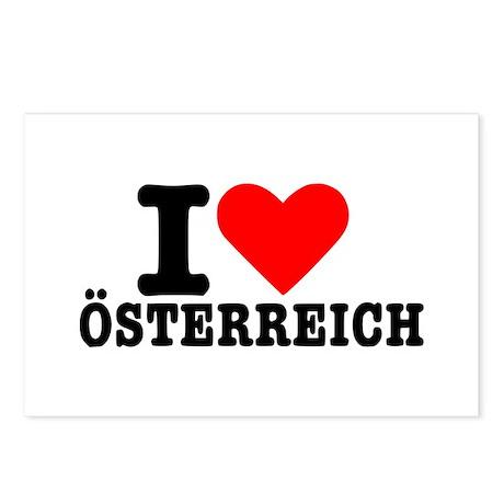 I love Österreich - Austria Postcards (Package of