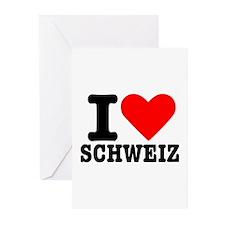 I love Schweiz - Switzerland Greeting Cards (Pk of