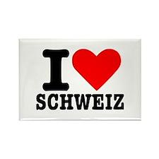 I love Schweiz - Switzerland Rectangle Magnet