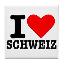 I love Schweiz - Switzerland Tile Coaster