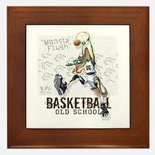 Basketball Dino Framed Tile