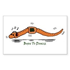 Born To Dance Rectangle Decal