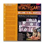 Souvenir Hell Hospital Tile Coaster
