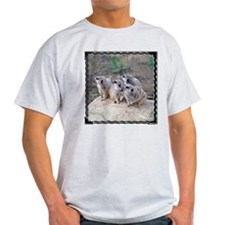 Meerkats Looking Left Ash Grey T-Shirt