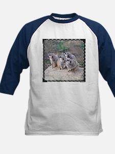 Meerkats Looking Left Kids Baseball Jersey
