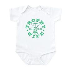 Trophy Wife since 02 Green Infant Bodysuit