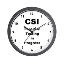 CSI Forensic Testing Wall Clock