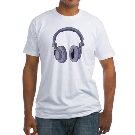 Headphones Fitted T-Shirt