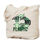 Just Say No to Plastic Reusable Tote Bag