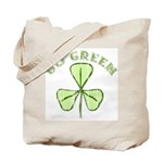 Go Green Shamrock Irish Reusable Canvas Tote Bag