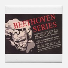 WPA Beethoven Series Concerts Tile Coaster