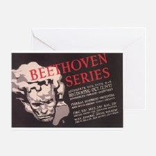 WPA Beethoven Series Concerts Greeting Card
